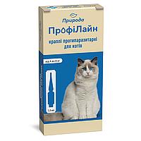 Капли на холку для кошек Природа ProVET «Профилайн» от 4 до 8 кг, 4 пипетки по 1мл