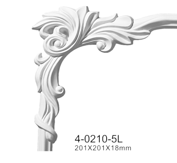 Угловой элемент Classic Home 4-0210-5L/R , лепной декор из полиуретана 201*201