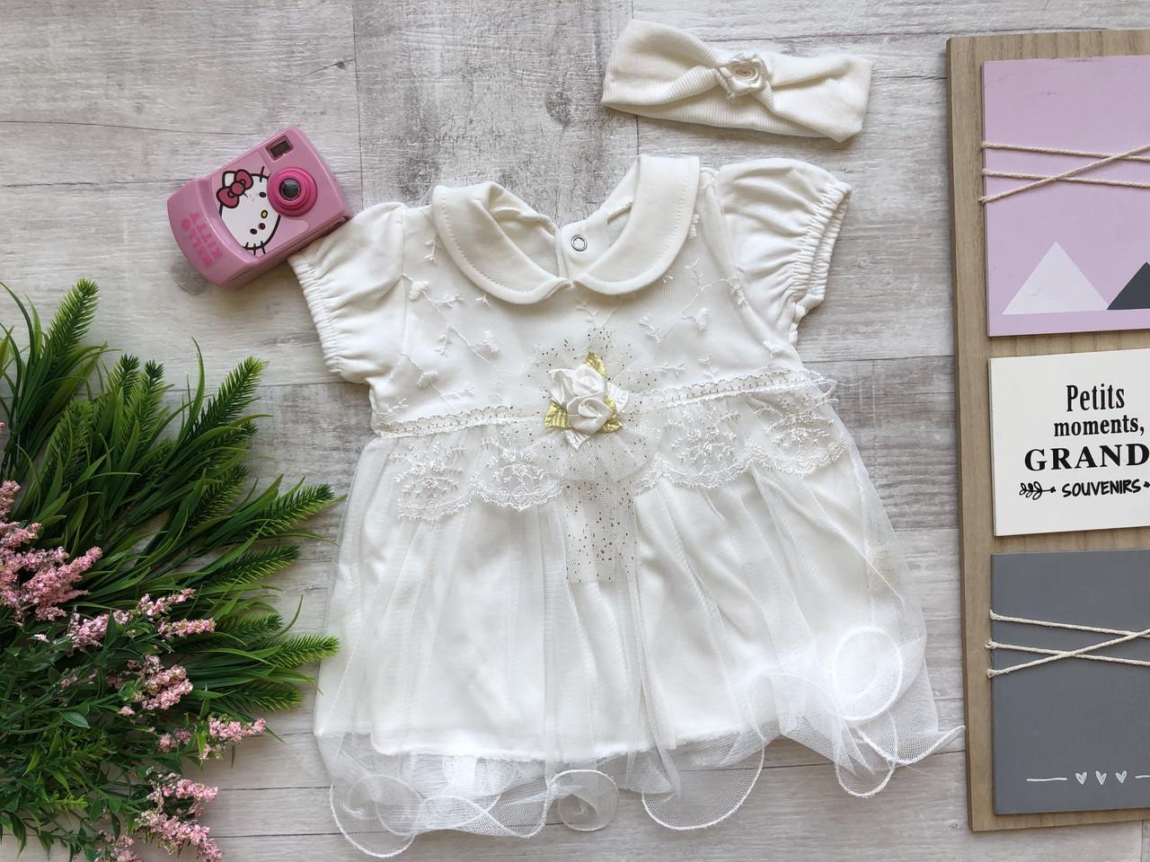 Детское платье 9-12 мес.