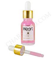 Кислотный ремувер для кутикулы Heart с пипеткой 15мл. (Розовый)