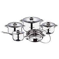 Набор посуды из нержавеющей стали Blaumann Gourmet Line 10 предметов BL-1637