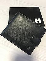 Тонкий кожаный портмоне для мужчин черного цвета Horton