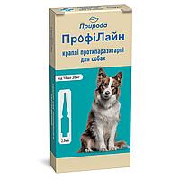 Капли на холку для собак Природа ProVET «Профилайн» 10-20 кг, 4 пипетки по 2мл