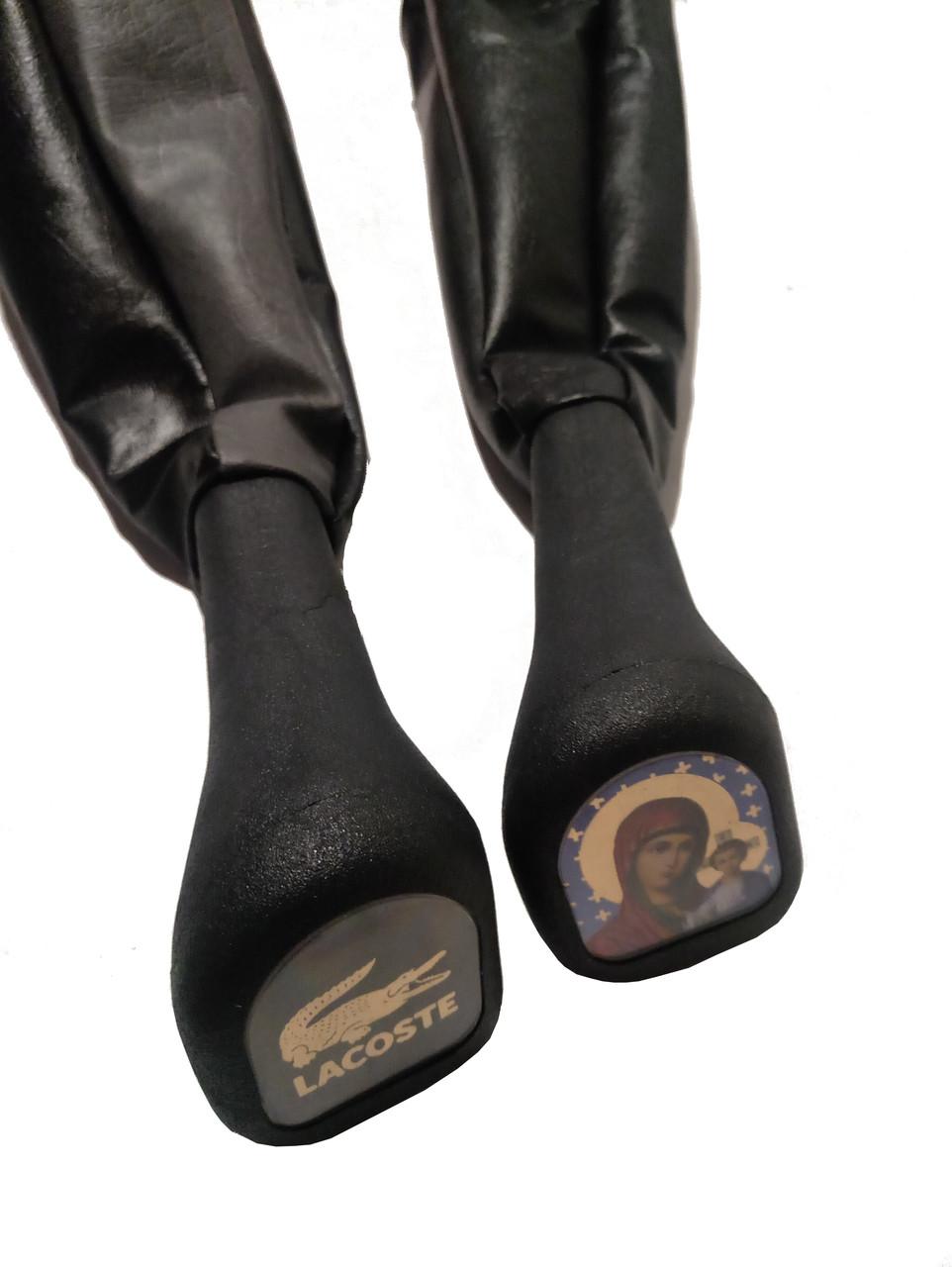 Чехол кулисы  ВАЗ 2101-07 с полеуритановой ручкой, черный (кожзам.)