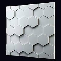 Декоративные гипсовые 3D панели «Соты» , фото 1