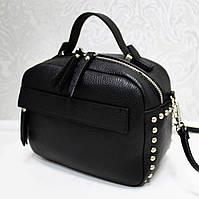 Женская кожаная сумка Италия Черный цвет, фото 1