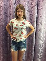 Джинсовые шорты на девочку стильные 8(140),18(170)