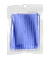 Микробраши для коррекции ресничек и бровей (100шт.уп) Синий