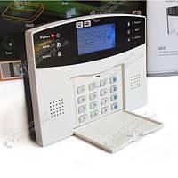 GSM сигнализация GSM026 с поддержкой проводных и беспроводных датчиков, с LCD дисплеем