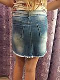 Джинсовая юбка для девочки модная 8(140)-18(170), фото 4