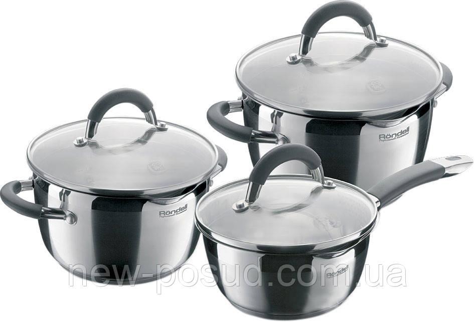Набор посуды из нержавеющей стали 6 предметов Rondell Flamme RDS-341