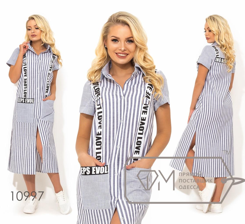 Сукня-сорочка з котону, сірий