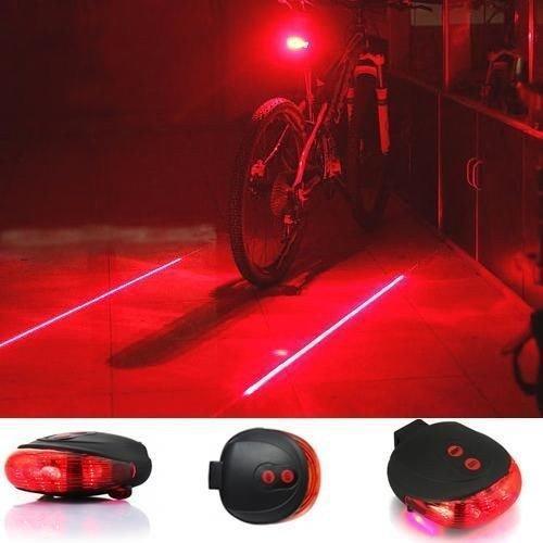 Лазерный светодиодный задний фонарик безопасности для велосипеда с 7-ю режимами
