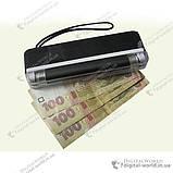 Портативний ультрафіолетовий детектор валют DL-01 для перевірки грошових купюр, фото 4