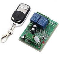 2-х канальный электрический выключатель на 12 Вольт с пультом дистанционного управления