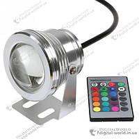 Влагостойкий RGB точечный светильник 10 Вт 12-24В для подсветки бассейна, фонтана, пруда, аквариума