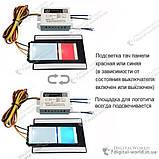 Сенсорный выключатель на зеркало XD-630 с подсвечиваемой площадкой под логотип производителя зеркала, фото 5