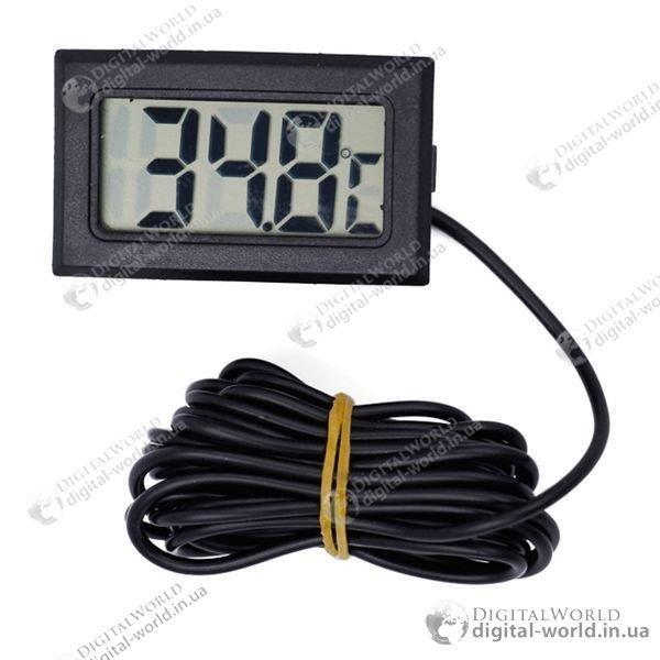 Датчик температуры с ЖК-дисплеем для аквариумов, котельных, холодильников, цифровой термометр с сенсором