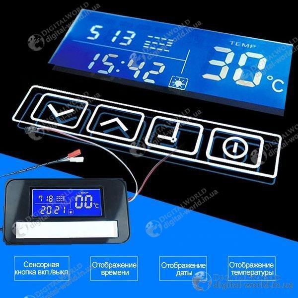 Цифровой экран для зеркала K3014, сенсорные кнопки, температура, дата время, управление подсветкой