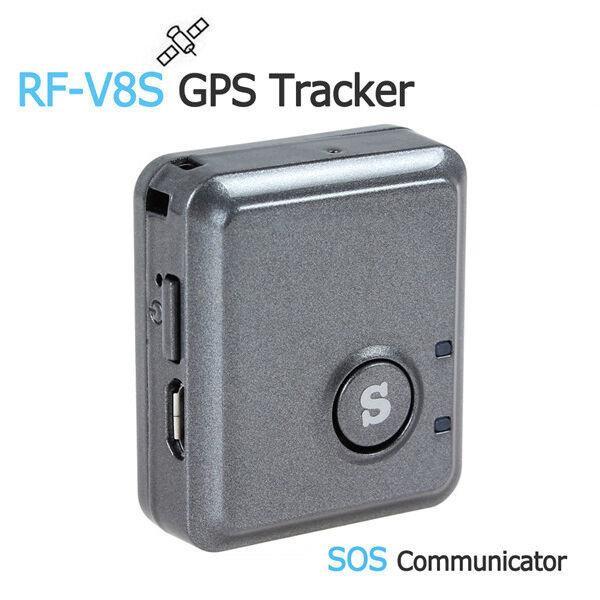 Миниатюрный GPS трекер RF-V8S, отслеживание положения, сигнализация, звуковой мониторинг, SOS кнопка