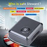 Миниатюрный GPS трекер RF-V8S, отслеживание положения, сигнализация, звуковой мониторинг, SOS кнопка, фото 8