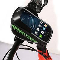 Влагостойкий чехол - сумка, держатель для мобильного телефона с креплением на раму велосипеда