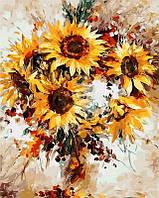 Картина по номерам Солнечные цветы. Худ. Леонид Афремов, 40x50 см., Mariposa