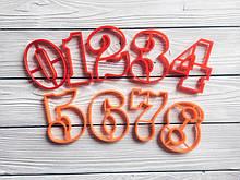 Вирубка цифри, форми для печива 10 і 8см, Набір цифр для печива, вирубка із пластику