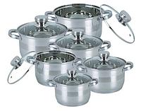 Набор посуды с нержавеющей стали Bohmann BH-1275 N