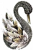 Лебедь металлический 26 см