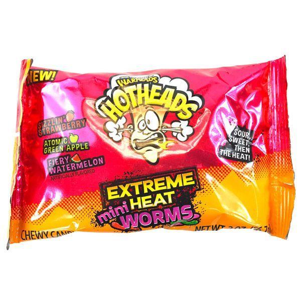 Жевательные конфеты Warheads Hot Heads Mini Worms
