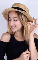 """Женская соломенная шляпа """"Канотье"""""""