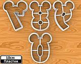 Вырубка цифры микки маус, вырубка из пластика в форме микки мауса, цифры от 0 до 10. Размер 10см, фото 3