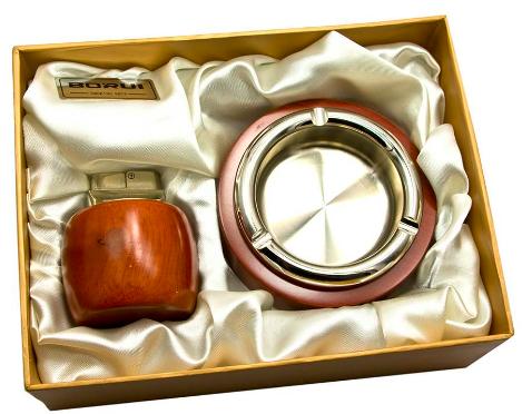 Набор подарочный пепельница и зажигалка 080