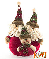 """Снеговики плюшевые """"Счастливого Рождества"""" 20 см"""