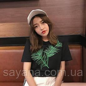 Женская футболка с вышивкой в расцветках. СК-2-0619