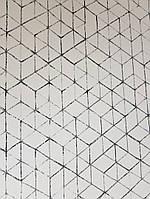 Обои флизелиновые  Khroma KOS102 KOSMOS белые полосы фигуры черные