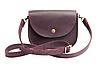 Мини-сумка женская из натуральной кожи Goose™ G0024 марсала (ручная работа)