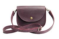 Мини-сумка женская из натуральной кожи Goose™ G0024 марсала (ручная работа), фото 1