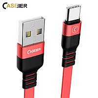 Качественный кабель USB-Type-C для быстрой зарядки 2А и синхронизации 1м CASEIER QC 3.0 quick charge