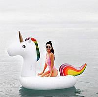 Надувной матрас Единорог. Для пляжа бассейна и вечеринок. Размер 150 см.