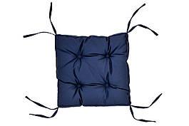 Подушка на стул DOTINEM COLOR синяя 40х40 см (213109-2)
