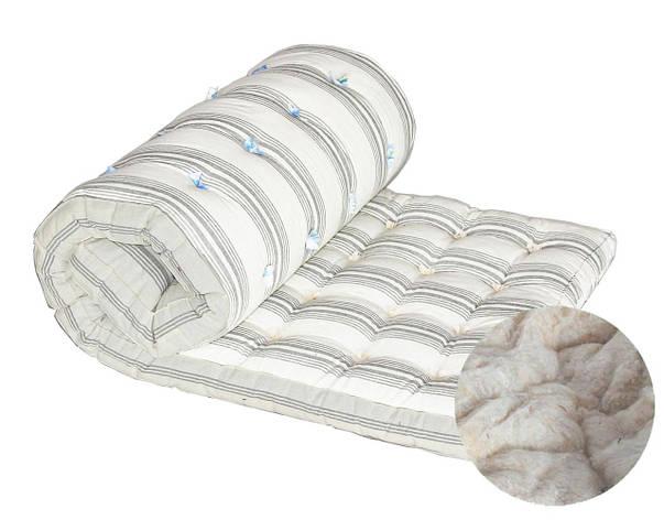 Ватный матрас DOTINEM Тик наполнитель хлопковая вата полуторный 90х190 (212489), фото 2