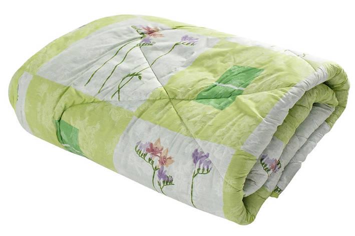 Одеяло Уют ватин полушерстяной 150х210 см салатовое (212971), фото 2