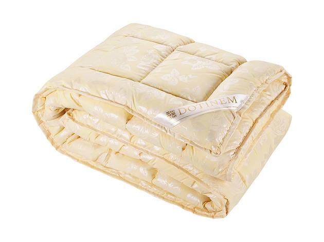 Одеяло DOTINEM ROSALIE искусственный лебяжий пух 195х215 см желтое (211130-1), фото 2