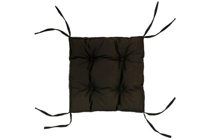 Подушка на стул DOTINEM COLOR коричневая 40х40 см (213109-1), фото 2