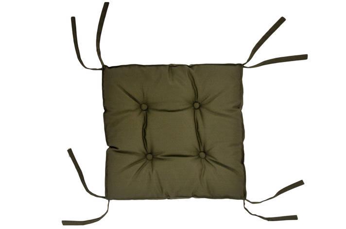 Подушка на стул DOTINEM COLOR хаки 40х40 см (213109-5), фото 2