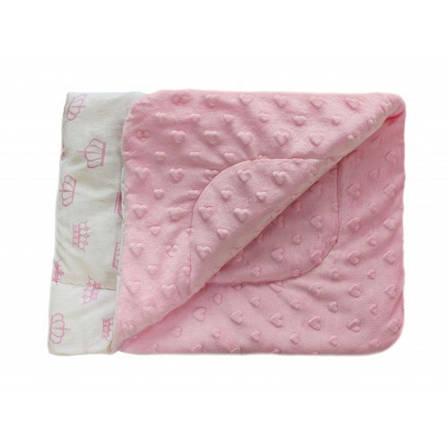Плед DOTINEM Minky плюшевый детский розовый 75х85 см (213145-1), фото 2