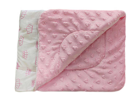 Плед DOTINEM Minky плюшевый детский розовый 75х100 см (213148-1), фото 2