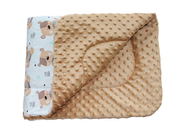 Плед DOTINEM Minky плюшевый детский капучино 75х85 см (213145-2), фото 2